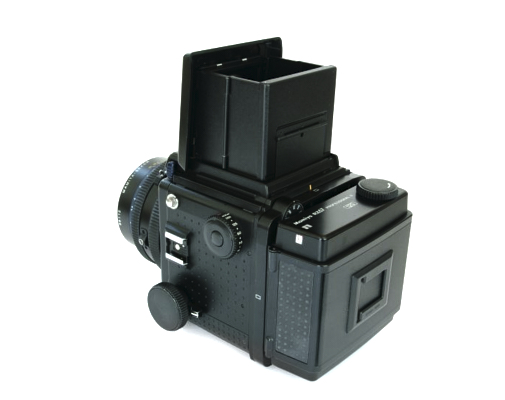 Pre-owned mamiya rz pro ii with 110mm f2.8 lens, waist level finder and 120 roll film holder