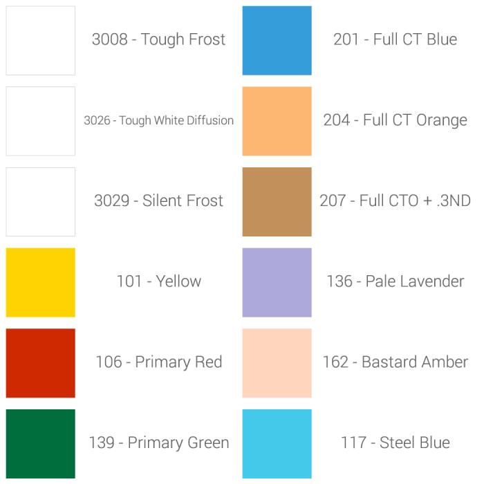 Rosco variety filter sample kit1