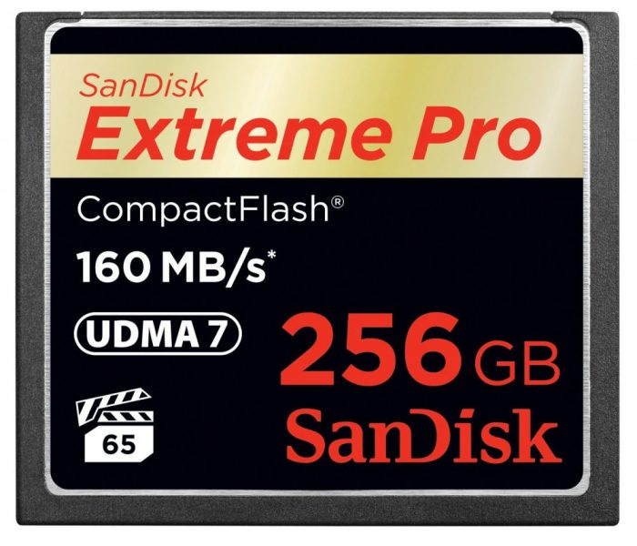Sandiskcfextremepro160mbcard 256gb