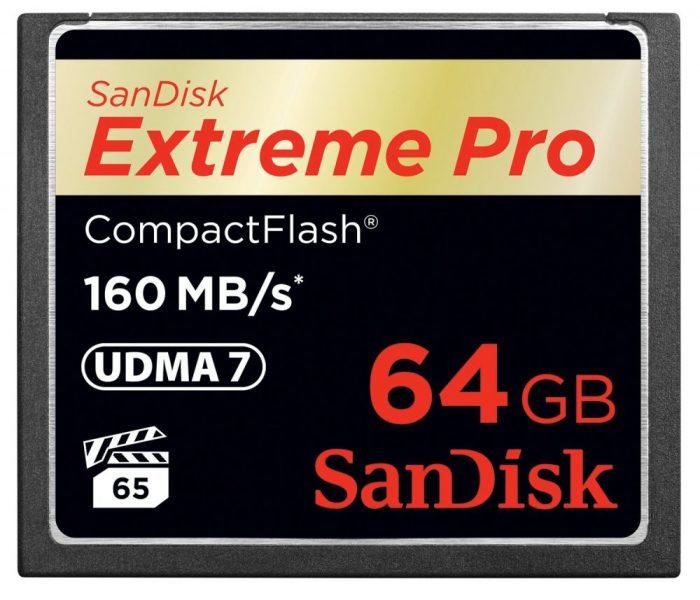 Sandiskcfextremepro160mbcard 64gb