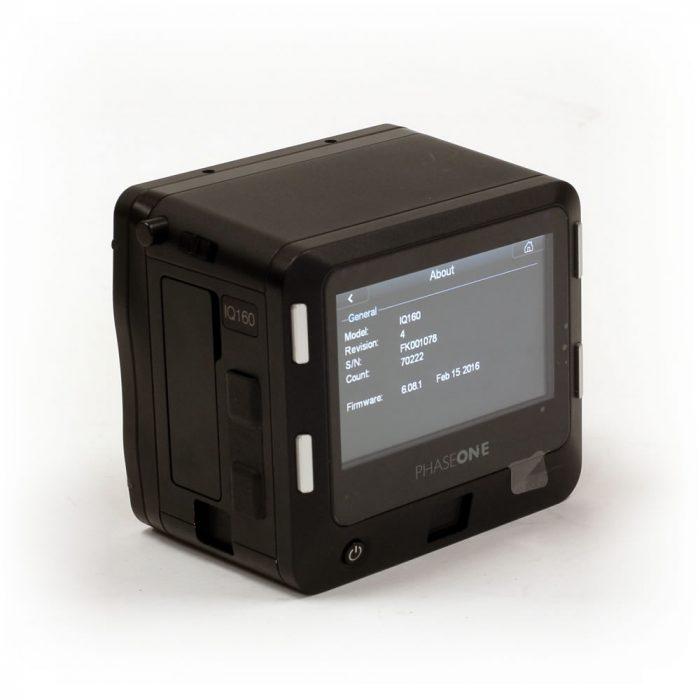 Used Phase One IQ160 MP Digital Back